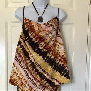 NWT Kensie Tie Dye Camisole Size Large